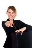 Frohe Geschäftsfrau Lizenzfreie Stockfotografie