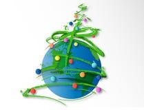 Frohe globale Weihnachten lizenzfreie abbildung