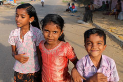 Frohe indische Kinder Lizenzfreies Stockfoto
