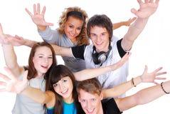 Frohe junge Leute Lizenzfreie Stockfotos