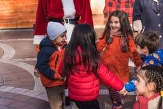 Frohe Kinder während des Feiertags Lizenzfreies Stockfoto