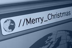 Frohe on-line-Weihnachten Lizenzfreies Stockbild