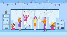 Frohe Manager, die Feiertag im Büro feiern stock abbildung