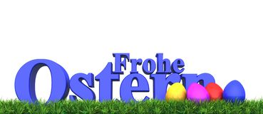 Frohe Ostern Arkivfoto