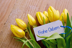 Frohe Ostern card. Stock Images