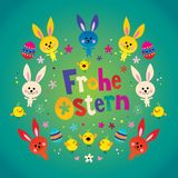 Frohe Ostern Happy Easter in German Royalty Free Stock Images