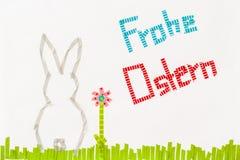 Frohe Ostern. Washi tape Stock Photo