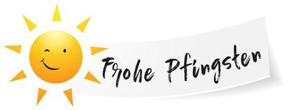 Frohe Pfingsten Happy Pentecost isolated vector