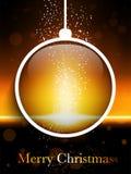 Frohe Weihnacht-Ball-Laser-Neon Lizenzfreie Stockfotografie