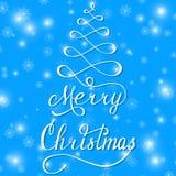 Frohe Weihnacht-Blau Stockfotografie