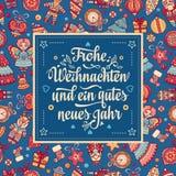 Frohe Weihnacht Congratulazioni di natale in Germania Fotografia Stock Libera da Diritti