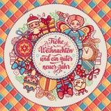 Frohe Weihnacht Congratulazioni di natale in Germania Immagini Stock Libere da Diritti