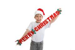 Frohe Weihnacht-Dekoration lizenzfreie stockbilder