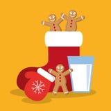 Frohe Weihnacht-Design Stockfoto