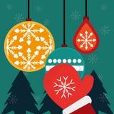 Frohe Weihnacht-Design Lizenzfreie Stockfotos