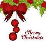 Frohe Weihnacht-Design Lizenzfreies Stockbild