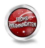 Frohe Weihnacht-deutsche Sprache Stockbild