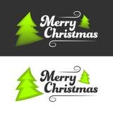 Frohe Weihnacht-Fahne Stockbilder