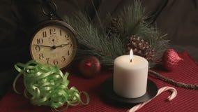 Frohe Weihnacht-Feiertags-Stillleben stock video footage
