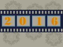 Frohe Weihnacht-Filmstreifen 2016 Stockfotografie