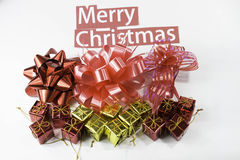 Frohe Weihnacht-Geschenk Lizenzfreies Stockfoto