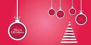 Frohe Weihnacht-Geschenk-Karte lizenzfreie abbildung