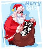 Frohe Weihnacht-Geschenke Santa Cartoon Illustration vektor abbildung