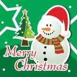 Frohe Weihnacht-Gruß-Karte Stockfoto