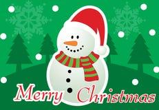Frohe Weihnacht-Gruß-Karte Lizenzfreies Stockfoto