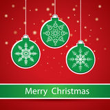 Frohe Weihnacht-Gruß-Karte. Stockfotografie