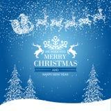 Frohe Weihnacht-guten Rutsch ins Neue Jahr-Hintergrund Stockfotos