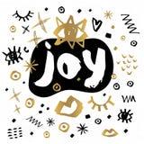 Frohe Weihnacht-guten Rutsch ins Neue Jahr-Skizzenart Stockfoto