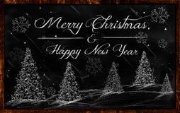 Frohe Weihnacht-guten Rutsch ins Neue Jahr-Zeichnungstafel vektor abbildung
