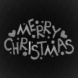Frohe Weihnacht-Hand gezeichneter Text Lizenzfreies Stockbild