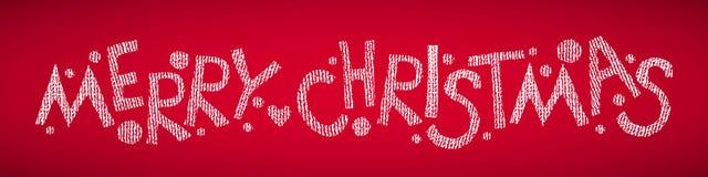 Frohe Weihnacht-Hand gezeichneter Text Stockbild