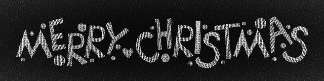 Frohe Weihnacht-Hand gezeichneter Text Lizenzfreie Stockfotos
