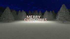 Frohe Weihnacht-Hintergrund stock footage