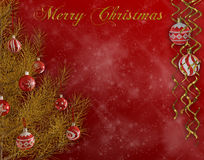 Frohe Weihnacht-Hintergrund Stockfoto