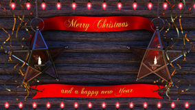Frohe Weihnacht-Hintergrund Stockbild