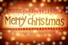 Frohe Weihnacht-Hintergrund Stockbilder