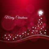 Frohe Weihnacht-Hintergrund mit Sternen Stockbild