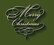 Frohe Weihnacht-kalligraphische Beschriftung Stockbild