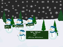 Frohe Weihnacht-Karte Stockfotografie