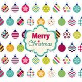 Frohe Weihnacht-Karte Stockfotos