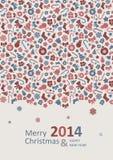 Frohe Weihnacht-Karte lizenzfreie abbildung