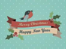 Frohe Weihnacht-Karte Lizenzfreies Stockbild