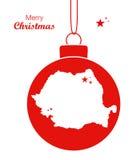 Frohe Weihnacht-Karte Rumänien vektor abbildung
