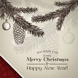Frohe Weihnacht-Karte und guten Rutsch ins Neue Jahr-Karte Lizenzfreie Stockbilder