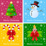 Frohe Weihnacht-Karten Stockfotos