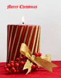 Frohe Weihnacht-Kerze Lizenzfreie Stockfotografie